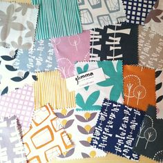 Can't wait to play with these beauties - Glimma by Lotta Jansdotter for Windham Fabrics. by Fresh Lemons : Faith, via Flickr
