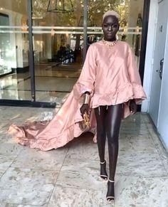 Dark skinned beautiful model