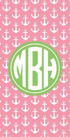 Monogram Beach Towel - Anchors Away