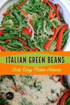 Fast, easy and made ahead, epic Italian Green Beans are the perfect low carb side for any meal! This casserole takes frozen green beans and morphs them into an Italian flavored favorite perfect with any meat.  #lowcarb #greenbeans