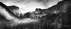 """""""Inspiration Point"""" Black & White photograph in Yosemite NP"""
