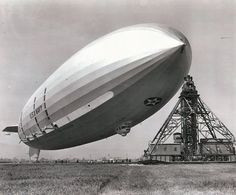 USS Macon.  The Macon was 785 feet long, about 20 feet shorter than the Hindenburg. Construction of both the Macon and the Akron was at the Goodyear Airdock in Akron, Ohio. Construction of the Macon began May, 1931, and she was launched on March 11, 1933 and first flew in April, 1933, just a few weeks after the Akron's demise. Both airships could achieve top speeds of 85 miles per hour. Fully loaded, they could carry 60 tons of fuel, giving them a range of about 11,000 miles!