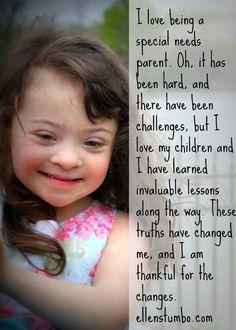 Ten reasons I love being a special needs parent - Ellen Stumbo
