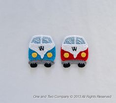 VW Camper Van Applique   PDF Crochet Pattern  Instant