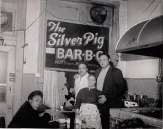 The Silver Pig Bar-B-Q restaurant in the Lower Hill, Pittsburgh. Teenie Harris. [University of Pittsburgh Digital Archives]