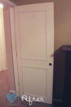 Beadboard Door Makeover