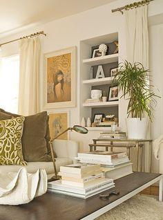 Painted bookshelf -- or mirrors?