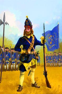 Swedish grenadier, Great Northern War