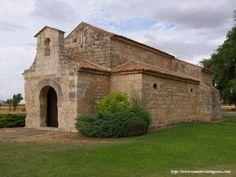 San Juan de Baños de Cerrato (Palencia) 661 VISTA SURESTE DEL TEMPLO CON SU INJERTADA ESPADAÑA