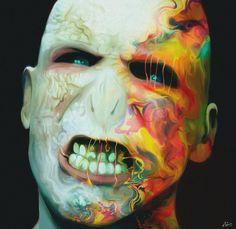 Retratos psicodélicos por Nicky Barkla Grrrr