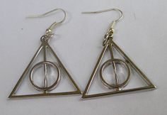Harry potter Deathly Hallows earrings by sweethearteverybody, $7.99