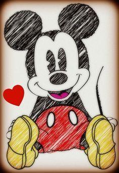Disney~Mickey Mouse Sketch - I must have this! Disney Mickey Mouse, Mickey Mouse Sketch, Mickey Mouse E Amigos, Retro Disney, Art Disney, Disney Kunst, Mickey Mouse And Friends, Disney Love, Disney Pixar