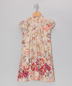 Save Now on this Khaki Antique Rose Dress - Toddler & Girls by Yo Baby on #zulily today!