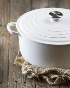 Le Creuset | Cotton On: our new pure-white Cotton collection with matte finish
