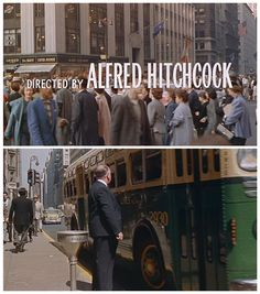 North by Northwest North By Northwest, Alfred Hitchcock, Vintage Hollywood, Classic Hollywood, Loving You Movie, Film Images, Opening Credits, See Movie, Film Strip