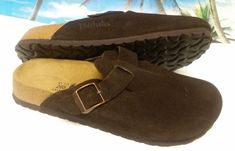 1e62876c0e0e Betula - Birkenstock version Brown Suede Clog Shoe - L10 - M8 (41) Excellent