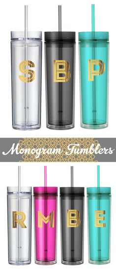 Bridesmaid Gift Ideas Personalized Tumbler Cups Custom Tumbler Cups Tumbler by ModParty