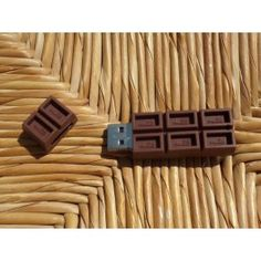 USB-stick chocolade (16GB) Sticks, Usb Flash Drive, Craft Sticks, Usb Drive