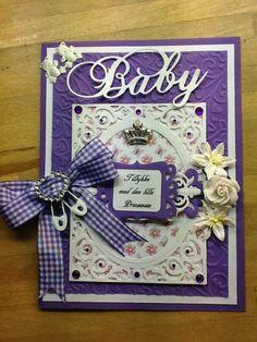 Baby card - baby girl - card - scrap - congratulation - paperarts