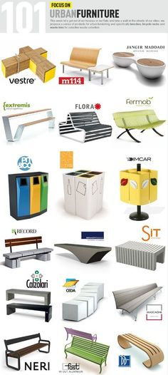 Archiproducts, Focus on Urban Furniture: benches, bicycle racks and waste bins www.edilportale.com/newsletter/163941 (Street Furniture Designs)