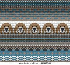 Find Knitted Varicolored Seamless Pattern Dogs stock images in HD and millions of other royalty-free stock photos, illustrations and vectors in the Shutterstock collection. Animal Knitting Patterns, Knitting Charts, Stuffed Animal Patterns, Knitting Stitches, Free Knitting, Baby Knitting, Fair Isle Chart, Fair Isle Pattern, Tejido Fair Isle