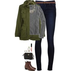 J.Crew jacket, cashmere sweater & necklace by steffiestaffie on Polyvore featuring J.Crew, J Brand, Tory Burch, Marc by Marc Jacobs, Kendra Scott, H&M and NARS Cosmetics