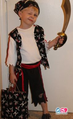 DIY Pirate Costume - my fav look, with instructions. DIY Pirate Costume - my fav look, with instructions. DIY Pirate Costume - my fav look, with instructions. DIY Pirate Costume - my fav look, with instructions. Toddler Pirate Costumes, Diy Pirate Costume For Kids, Modest Halloween Costumes, Diy Costumes For Boys, Homemade Pirate Costumes, Costumes For Teenage Girl, Halloween Diy, Pirate Party, Pirate Crafts