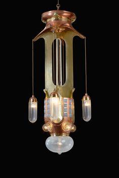 stunning 1904 chandelier...Belgian innovator Henry van de Velde....The Carnegie Museum....