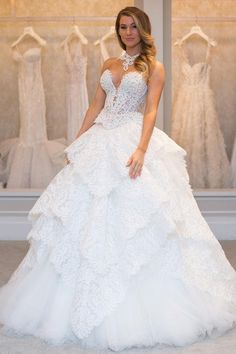 Brand new Pnina Tornai wedding dresses, as modeled by Instagram fitness sensation (and engaged bride-to-be!) Anna Victoria
