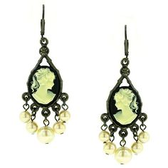 Kimberly's Cameos Chandelier Earrings - $26