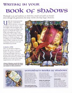 Mind, Body, Spirit Collection - Writing In Your Book Of Shadows