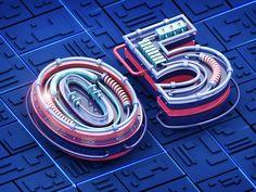 3D fonts by REETIME #Design Popular #Dribbble #shots