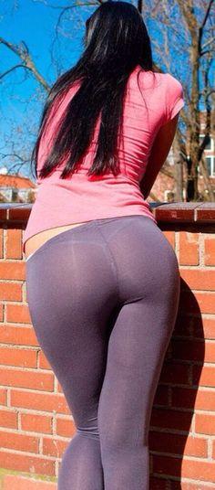 white thong   Yoga Pants Yum