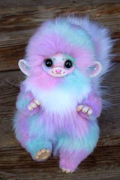 Baby Animals Super Cute, Cute Stuffed Animals, Cute Little Animals, Cute Fantasy Creatures, Cute Creatures, Baby Dragon Tattoos, Baby Animals Pictures, Baby Fairy, Colorful Animals