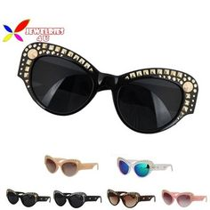 Top Fashion Vintage Deisgner Women Brand Pyramid Studs Cateye Woman Sunglasses Shade Oculos De Sol Feminino 2015 Gafas