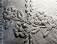 Thick TUFTED Chenille Flowers Pillow Large COVER by ThePeonyShanty