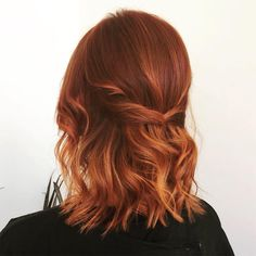 Red Hair Dark Roots, Hair Color For Black Hair, Cool Hair Color, Dark Hair, Hair Colour, Red Hair With Blue Highlights, Dark Roots Light Ends, Light Red Hair Color, Dark Orange Hair