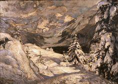 Artgate Fondazione Cariplo - Carcano Filippo, In pieno inverno o Inverno in Engadina - Divisionismo (pittura) - Wikipedia