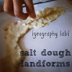 how to make salt dough landforms for school projects