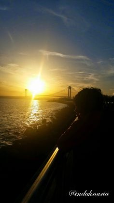 My Purple World : WW: Sunset at Verrazano Bridge, NYC