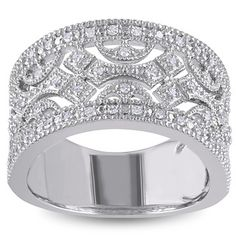 Miadora Sterling Silver 1/6ct TDW Diamond Ring (H-I, I3) - 12942154 - Overstock.com Shopping - Top Rated Miadora Diamond Rings