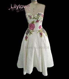 Rose Flower Colorful Sweetheart Short Party Dress
