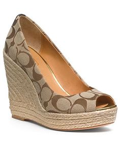 COACH MILAN WEDGE - Shoes -not much of a coach gal, but I love me some peep toe wedges!!