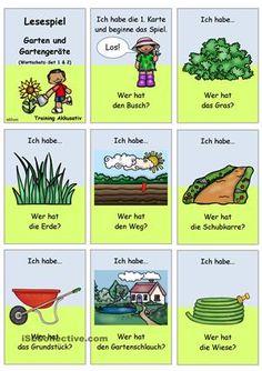 Lesespiel 1 _ Garten und Gartengeräte _ Ich habe...Wer hat...? (Set...