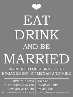 Engagement Party Invitation by WeddingsByJamie on Etsy