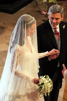 Father of the bride Michael Middleton, prepares to lead his daughter Catherine down the aisle to be wed to Prince William during their wedding at Westminster Abbey on April 29, 2011 in London, England.