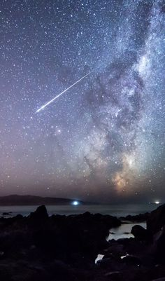 Meteor And The Milky Way | by Mark Gee