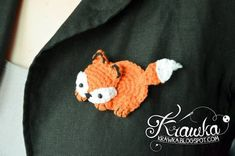 Free Pattern – Fox Brooch (Crochet