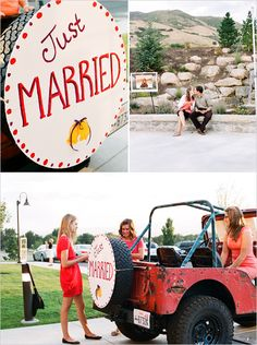 I think Mike needs to bring the Jeep up - this would be so fun for some post ceremony pics!