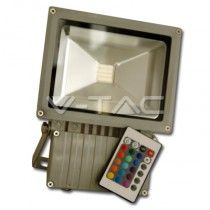 50W LED Floodlight V-TAC Sensor - Warm White (VT-4050)